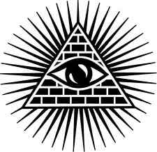 "All Seeing Eye of Providence Car Bumper Sticker Decal 5"" x 5"""