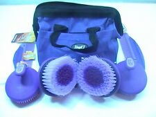 "Tough 1 purple 8 piece ""Oster style"" grooming kit w/case horse tack equine"