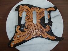 Tooled leather Pickguard for Fender  Stratocaster, 11-hole
