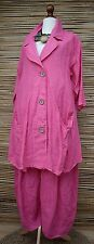 """LAGENLOOK OVERSDIZE 2 PCS OUTFIT JACKET+TROUSERS***PINK***BUST UP TO 50"""""""