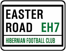 HIBERNIAN F.C. STREET SIGN ON MOUSE MAT / PAD. EASTER ROAD.