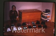 1960s Kodachrome photo slide Young Boy with shoe collection  Jumping Jacks
