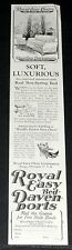 1925 OLD MAGAZINE PRINT AD, ROYAL EASY CHAIR, DAVENPORTS, SOFT & LUXURIOUS BEDS!