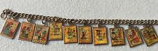 Vintage 10 Commandments Hologram Charm Bracelet Religious Jewelry  6 3/4""