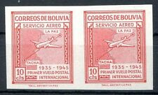 BOLIVIA Michel # 382, Pair Imperforate, MNH, w/Certificate on the Back