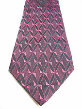 Innocenti Oro By Tom James Balck and Light Purple Geometric Woven Silk Necktie