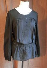 MEXX blouse tunique coton NOIR manches 100% coton t 40 42 très bon état