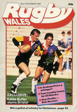 RUGBY WALES No3 Nov 1984 Mag Eddie Butler Graham Price Ray Gravell Lynn Davies