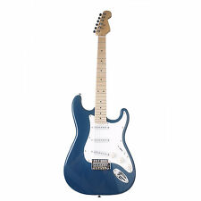 Strat Electric Guitar Maple Neck Poplar Solid-body Eletronic Guitar & Tools Blue