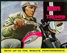Triumph Tiger Bonneville Cub 5TA 3TA Brochure catalogue 1965 Original NOS