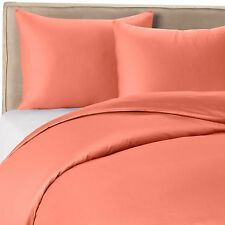 1000 Thread Count Silky BAMBOO COTTON Hybrid Blend Sheet Set KING CORAL / RED