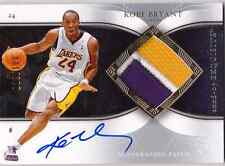 2006-07 Exquisite KOBE BRYANT Auto 3 Color Patch Jersey Card #d 100 LAKERS