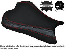 CARBON GRIP RED DS ST CUSTOM FITS KAWASAKI ZX10R 1000 08-10 FRONT SEAT COVER