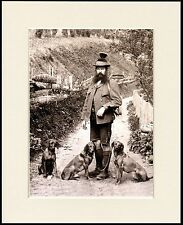 HUNGARIAN VIZSLA MAN AND HIS DOGS GREAT DOG PHOTO PRINT MOUNTED READY TO FRAME