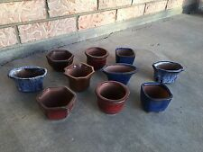 Lot Of 10 Small Bonsai Pots Planters 2.5 x 3 Inch
