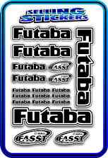 FUTABA SERVO RADIO RX TX 2.4G FLIGHT REMOTE CONTROL STICKERS FASST BLACK WHITE
