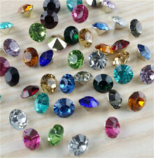 High quality 100pcs 6mm Mix Crystal Clear Point Back Rhinestone Resin Chatons