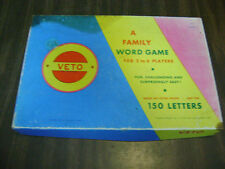 Vintage Veto A Family word Game 1967 made in Salem OR