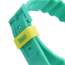 Breo Binary Unisex Digital Watch with Black Dial and Green Plastic strap - green
