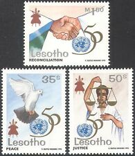 Lesotho 1995 UN 50th Anniversary/Dove of Peace/Scales/Hands 3v set (n16428)