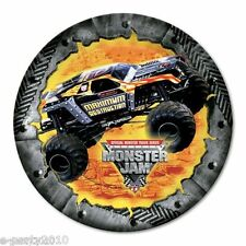 MONSTER JAM SMALL PAPER PLATES (8) ~ Birthday Party Supplies Cake Dessert Trucks