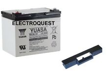 Yuasa REC36-12 36ah Golf Battery for Powakaddy T Bar Included 36 Hole Battery