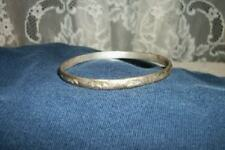 VINTAGE CHIC TAXCO MEXICAN STERLING SILVER STAMPED BRACELET NICE