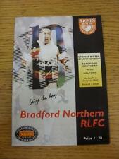 31/10/1993 Rugby League Programme: Bradford Northern v Salford. This item is in