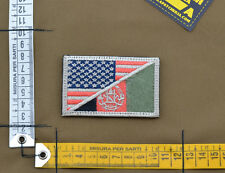 """Ricamata / Embroidered Patch """"USA / Afghanistan"""" Subdued with VELCRO® brand hook"""