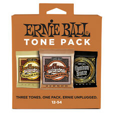 Ernie Ball Tone Pack Acoustic Guitar Medium-Light Strings Phosphor Bronze 12-54