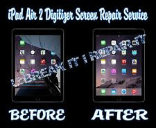 iPad Air 2 Broken Cracked Glass Digitizer LCD Screen Repair Service Black