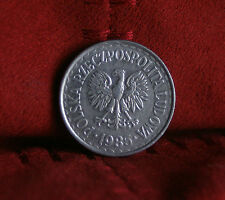 Poland 1 Zloty 1985 World Coin Y49.1 Polska Eagle with Wings Polish Europe