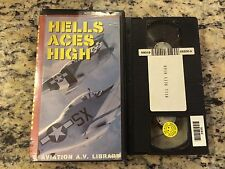 HELLS ACES HIGH RARE VHS! NOT ON DVD! AVIATION A.V. LIBRARY WWII FIGHTER PILOTS!