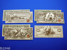 1896 Educational Set + Bonus Replica U.S. Currency Paper Money Copy