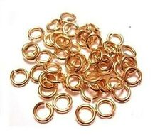 CHAIN MAILLE BRONZE JUMP RING 20GA WIRE 6 MM O/D  800 pcs. 2 OZ SAW-CUT SOLID
