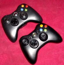 Lot Of 2 Genuine/Aftermarket Xbox 360 Wireless Gaming Controllers Black System
