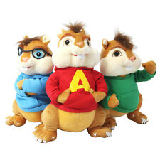 3 pcs Alvin and the Chipmunks Simon Theodore plush toy christmas gift 23cm/9""