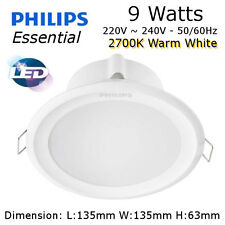 "PHILIPS LED Downlight 9W 4"" 2700K 548 lumen Warm White Light DIY Upgrade"