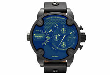 Diesel DZ7257 Black Chronograph Blue Glass Men's Wrist Watch with Box