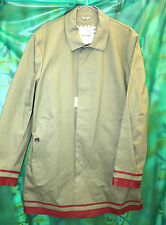 Ben Sherman double texture rubber mackintosh red SBR taped seams XL raincoat