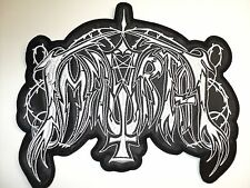 IMMORTAL  WHITE LOGO     EMBROIDERED BACK PATCH