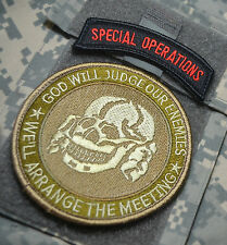 JSOC ELITE WARRIORS MARSOC RAIDERS USMC SSI: ARRANGE MEETING with GOD + SP OPS