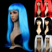 Fashion Women Girl Full Bangs Long Straight Full Hair Wigs Cosplay/Party 14Color