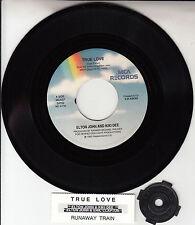 """ELTON JOHN & KIKI DEE True Love ERIC CLAPTON 7"""" 45 record + juke box strip RARE"""