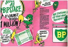 PUBLICITE  1966   BP    station service carburants LE BIPSTAKE ( 2 pages)