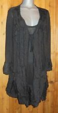 NWT PRETTY ANGEL blouse DRESS tunic VICTORIAN GYPSY ruffles lace VINTAGE blk 2X