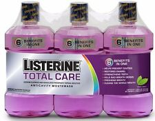 3 Listerine Total Care Mouthwash Fresh Mint Oral Care Mouth Wash Kills Germs NEW