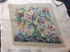 ANOTHER VINTAGE J AND P COATES 798 JACOBEAN COMPLETED TAPESTRY CHAIR SEAT