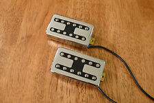 HUMBUCKER PICKUP SET VINTAGE OUTPUT FILTERTRON STYLE CHROME FOUR CONDUCTOR WIRES
