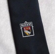 CLUB ASSOCIATION TIE NAVH VINTAGE RETRO NAVY BY MUNDAY 1980s 1990s SHIELD CREST